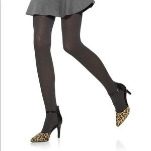 NWT Nordstrom Hue Brown Opaque Tights